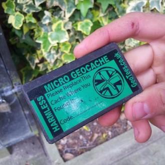 Micro geocache found in Harrogate
