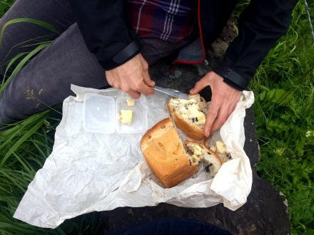 Fruit bread picnic