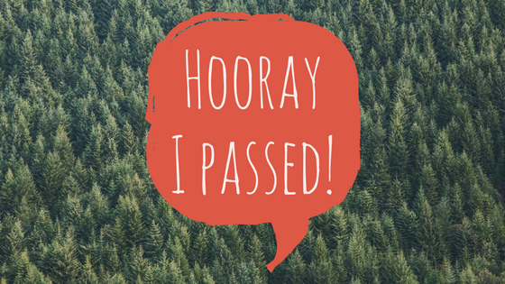 Hooray I passed!